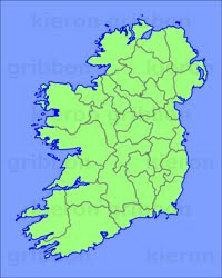 Map Of Ireland On Your Face.Irish Geography Facts Figures Kieron Gribbon